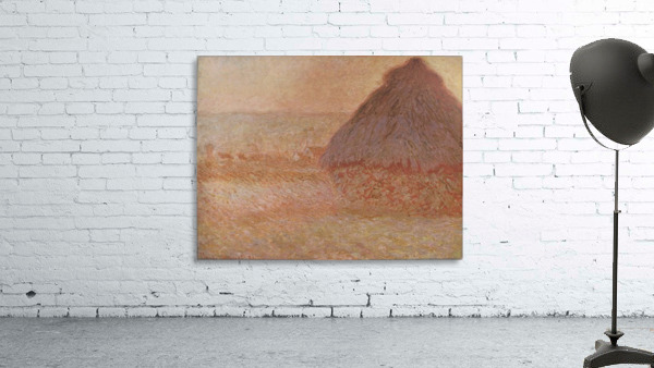 Haystacks at sunset by Monet