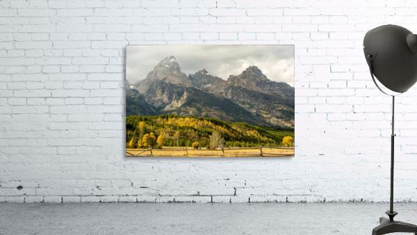 Grand Teton range in autumn, Grand Teton National Park; Wyoming, United States of America
