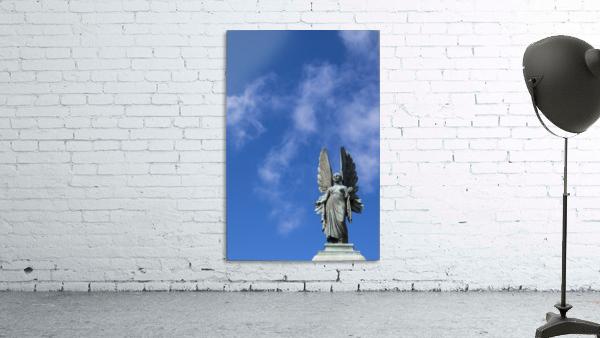 Angel overlooking Parade Gardens; Bath, Somerset, England