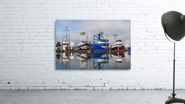 Fishing boats moored at the dock; Warrenton, Oregon, United States of America