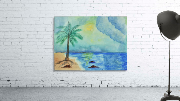 Aqua Sky Ocean Scene