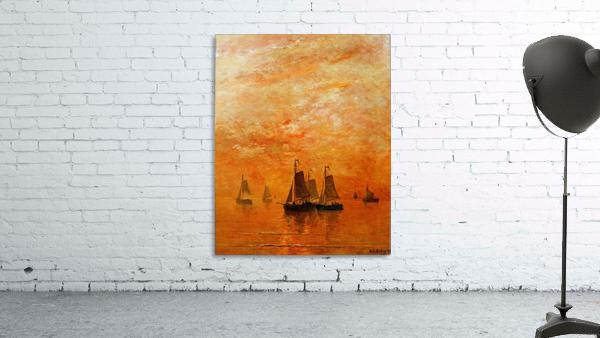 Ships on sunset