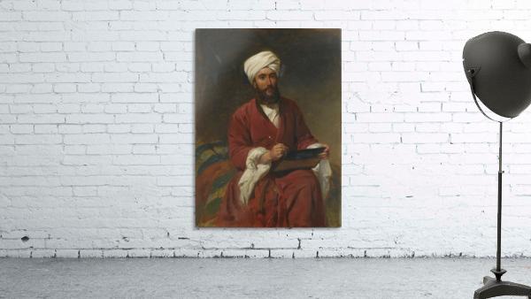 An Oriental man writing