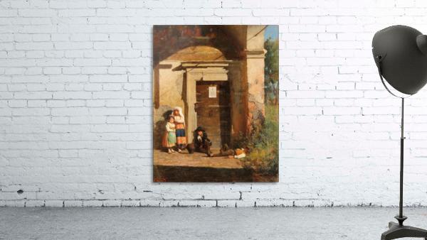 Nens sota la porxada