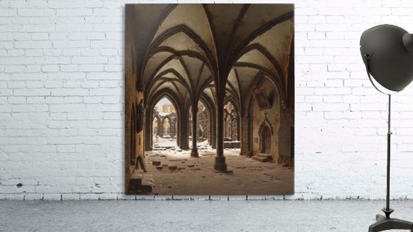 Die Ruine des Klosters Walkenried im Winter