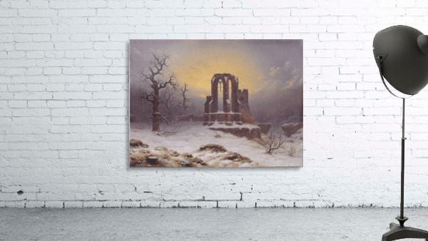 Church Ruine in the Snow
