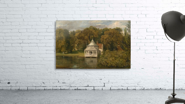 A small white cottage by the river