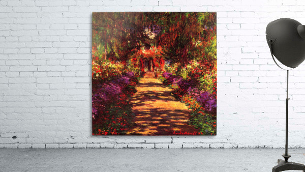Path in Monets garden in Giverny by Monet