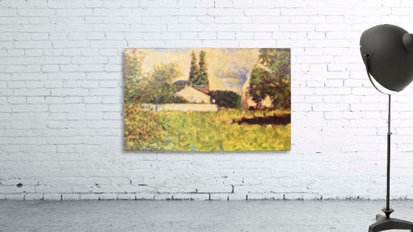 A house between trees by Seurat