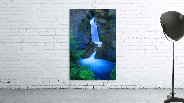 A Beautiful Waterfall, Johnston Canyon, Banff, Alberta, Canada