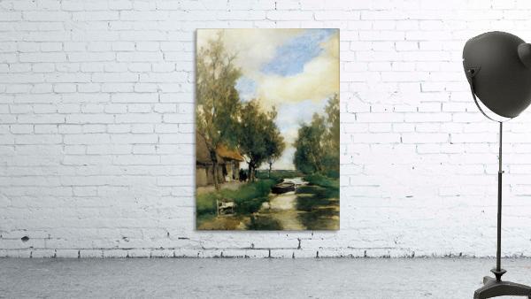 Farm on polder canal