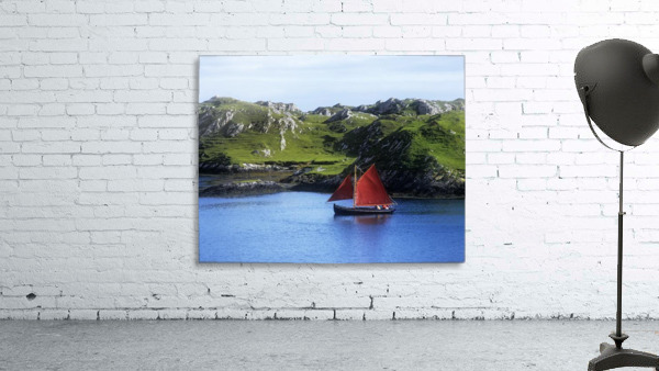 Boat In The Sea, Galway Hooker, County Galway, Republic Of Ireland