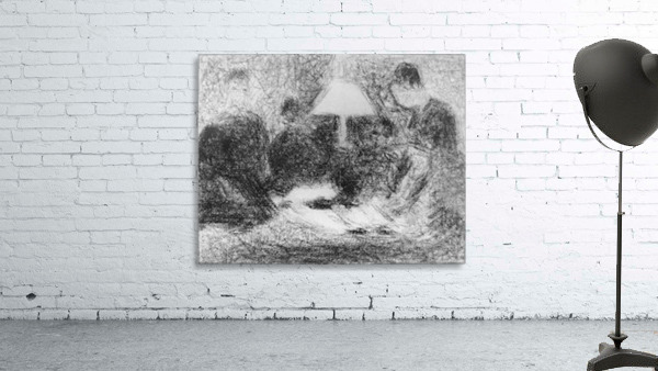 Family evening by Seurat