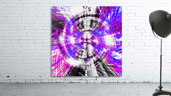 geometric pink blue purple and black circle plaid pattern with white background