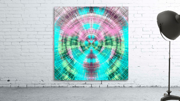 geometric pink blue and green circle plaid pattern abstract background