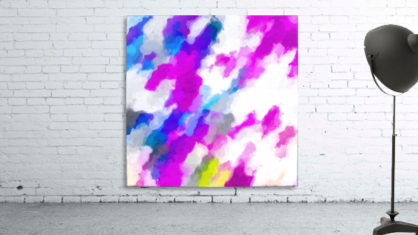 psychedelic painting texture abstract in pink purple blue yellow and white