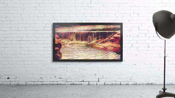 Medicine Park waterfall pic art Print