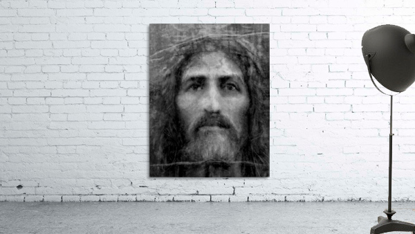 Christ face reconstruction black and white