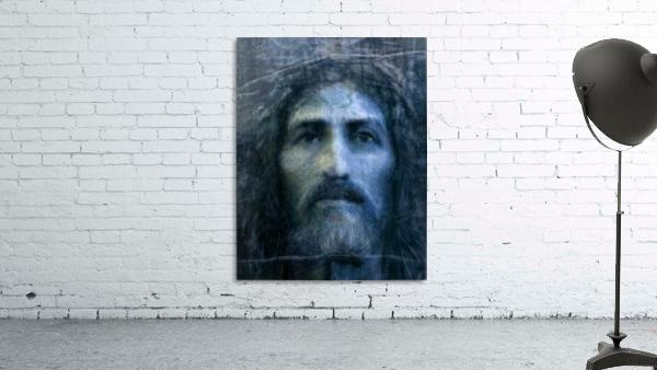 Christ face reconstruction blue