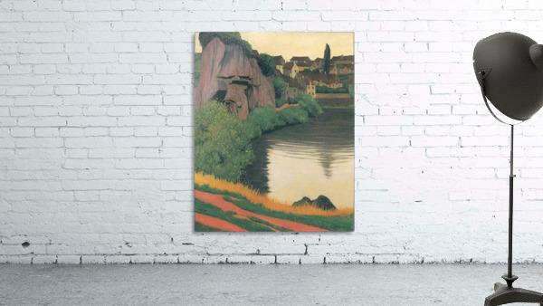 Landscape Semur by Felix Vallotton