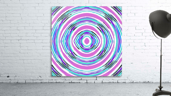psychedelic graffiti circle pattern abstract in pink blue purple