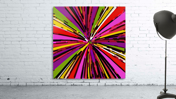 psychedelic geometric graffiti line pattern in pink purple yellow green red