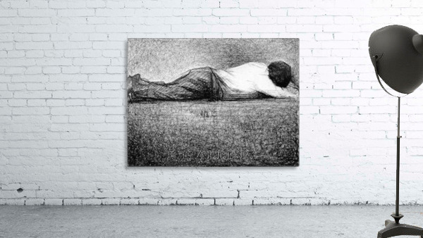 Man sleeping by Seurat