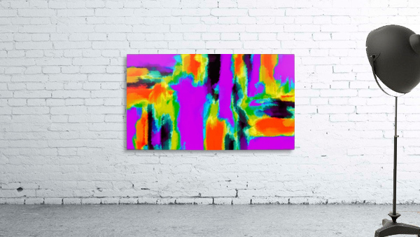pink purple green orange black yellow and blue painting abstract background