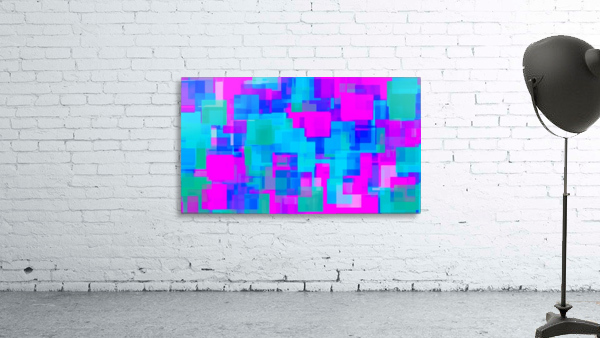 pink blue and green geometric square abstract background