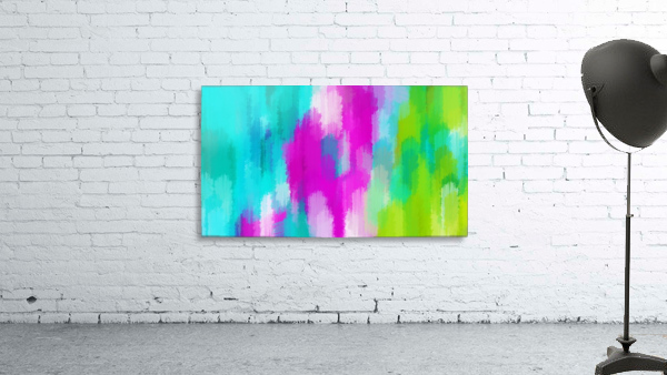blue pink and green painting abstract background