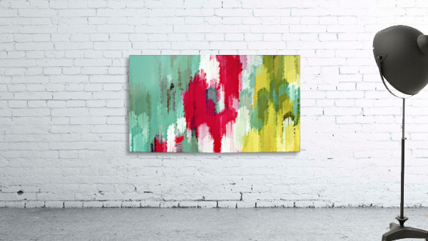 red green and yellow painting texture abstract background