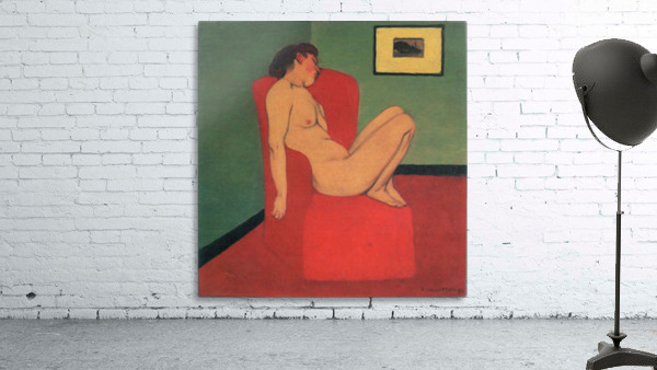Nude in a Red Armchair by Felix Vallotton