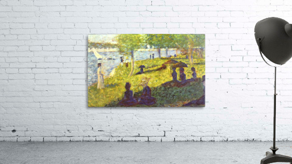 One Sunday on La Grande Jatte, draft by Seurat