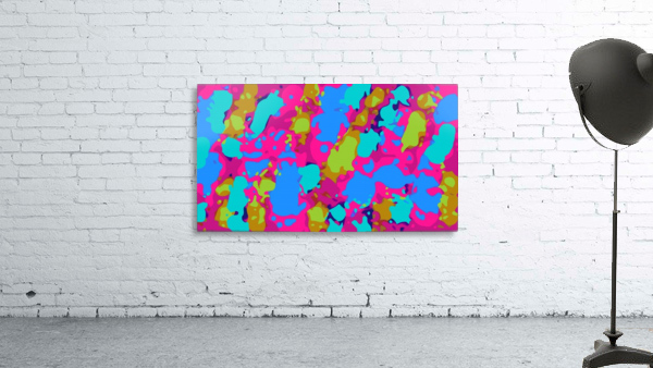 splash graffiti painting abstract in pink blue green