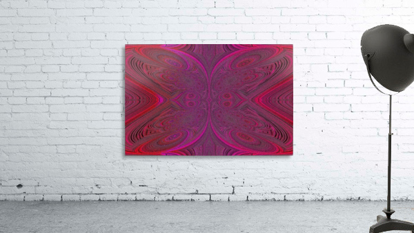Digital Butterfly Pink Red