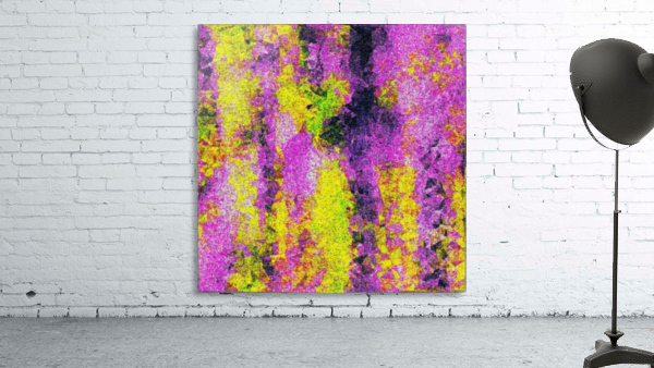 vintage psychedelic painting texture abstract in pink and yellow with noise and grain