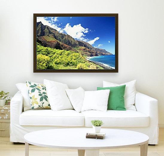 Hawaii, Kauai, Napali Coast, Kalalau Valley, Secluded Beach  Art