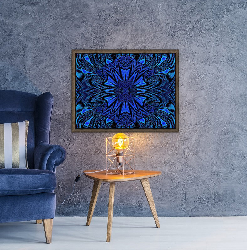 Electric Blue 2 with Floating Frame