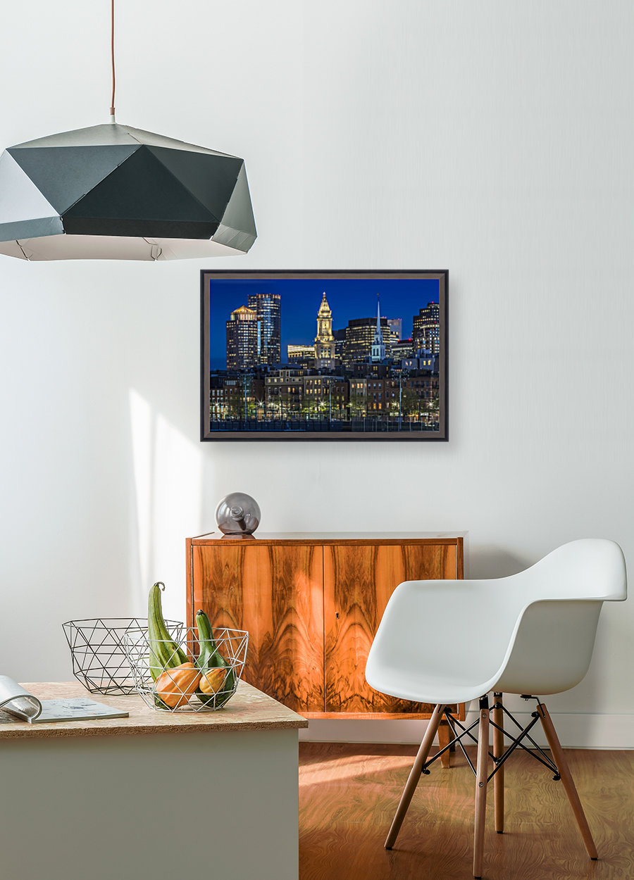 BOSTON Evening Skyline of North End & Financial District - Melanie ...
