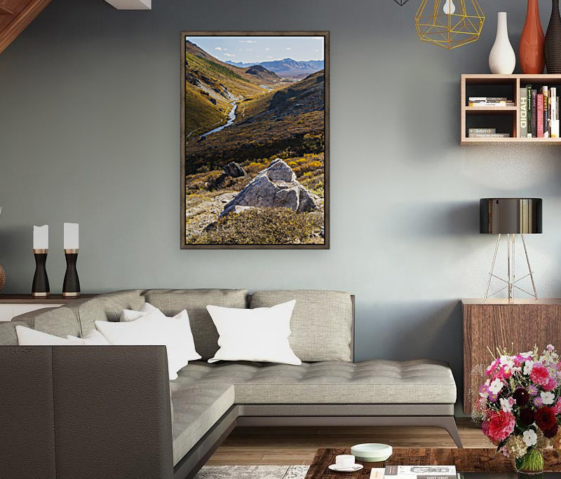 Savage River and the landscape in the rocky high country, Denali National Park and Preserve, interior Alaska; Alaska, United States of America  Art