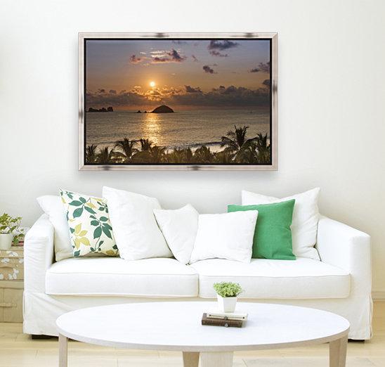 Sunset over the islands in front of Ixtapa; Ixtapa, Mexico  Art