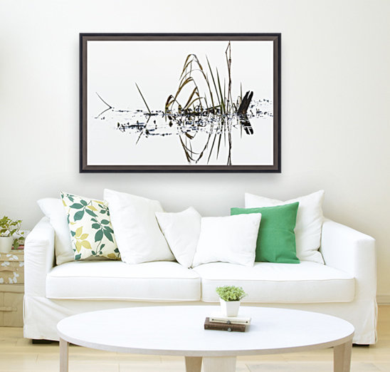 Grass grows in Coffenbury Lake; Hammond, Oregon, United States of America  Art
