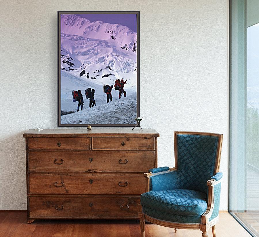 Mountain Climbers Byron Glacier Southcentral Ak Spring  Art