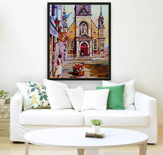 EGLISE BONSECOURS VIEUX MONTREAL  with Floating Frame
