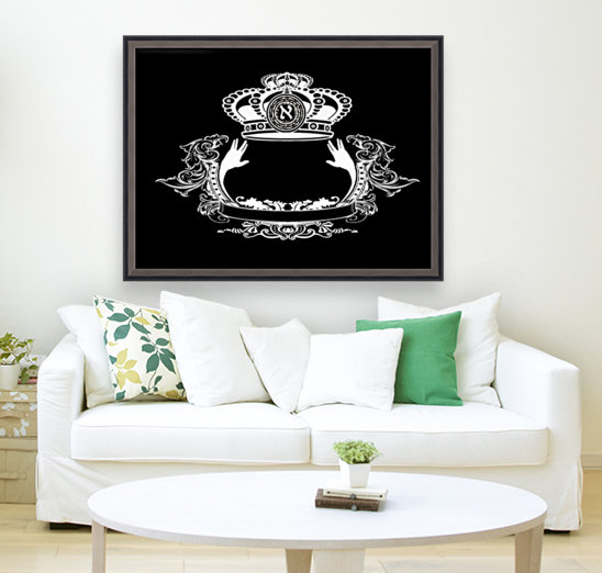 monogram crown  4 black  Art