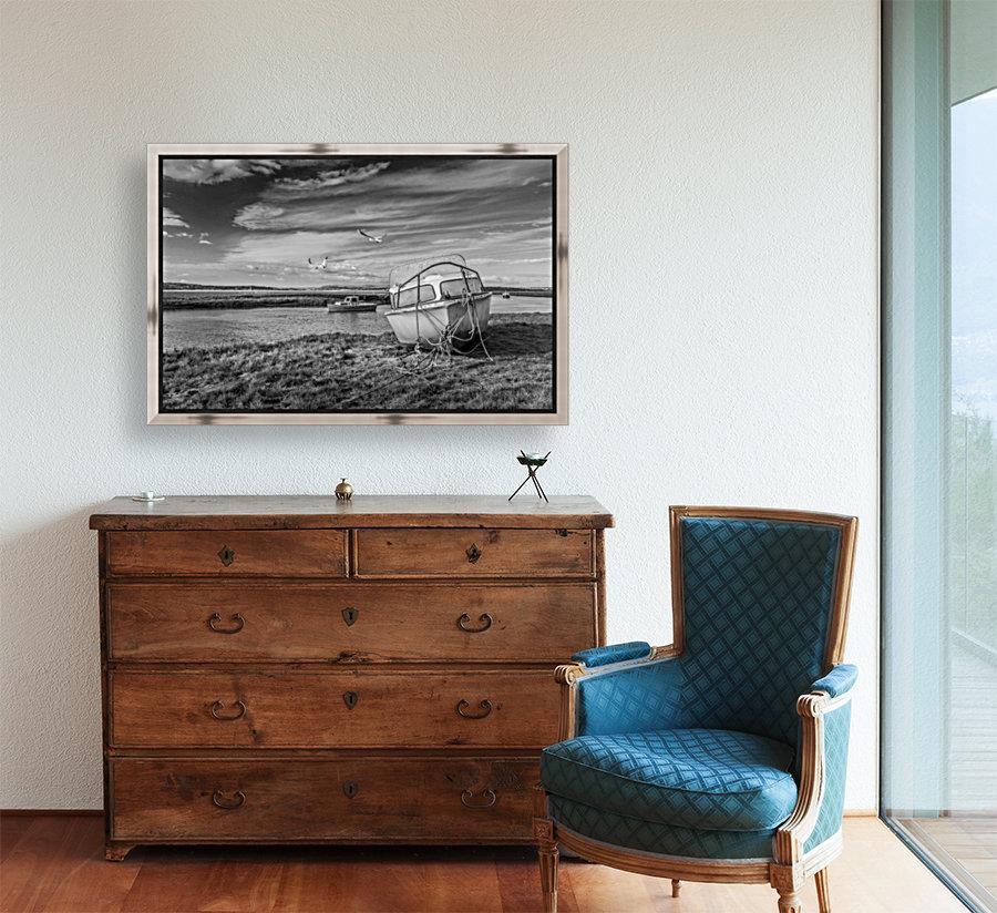 Loughor Estuary boats Wales  Art