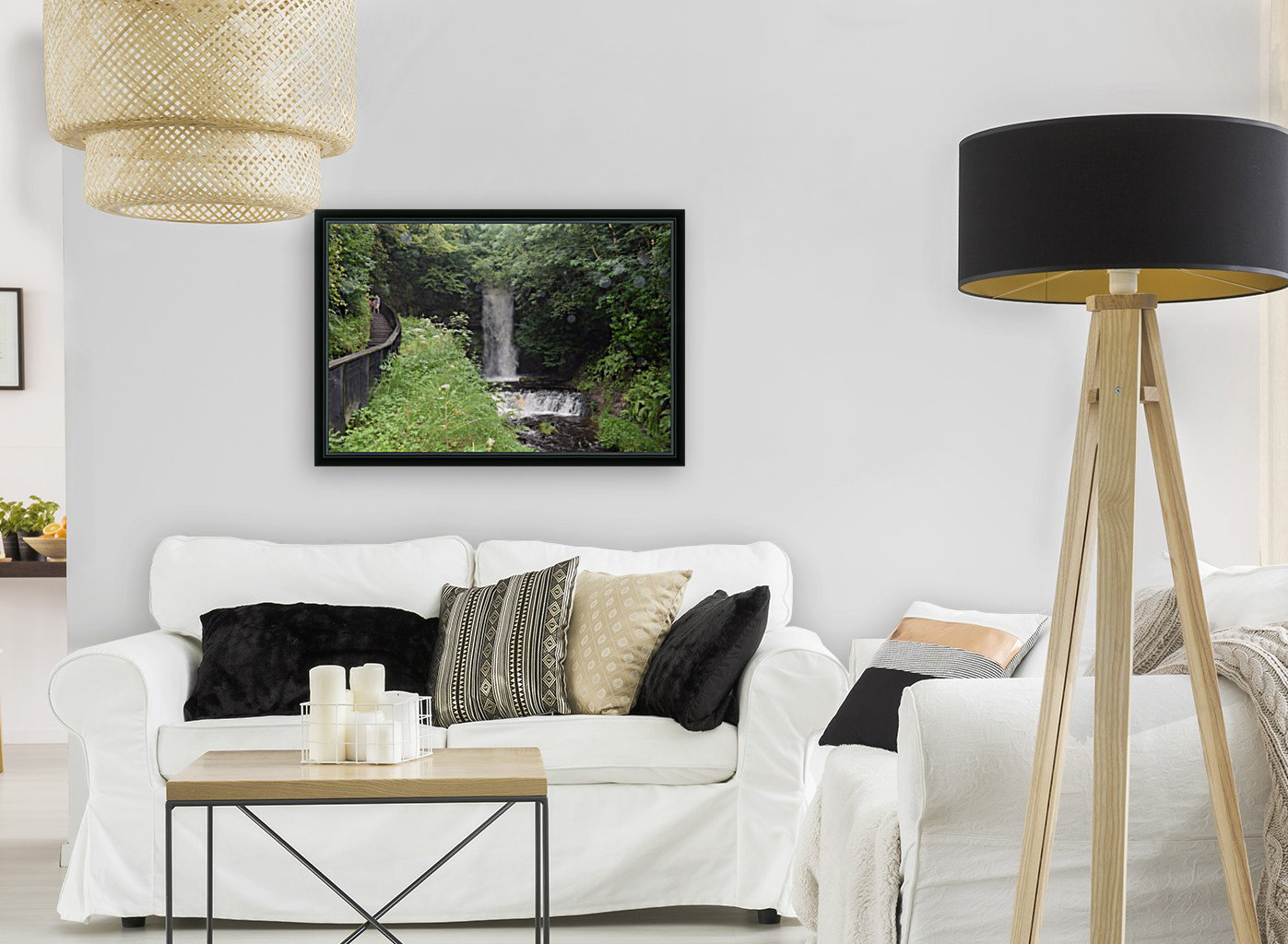 GLENCAR WATERFALL with Floating Frame