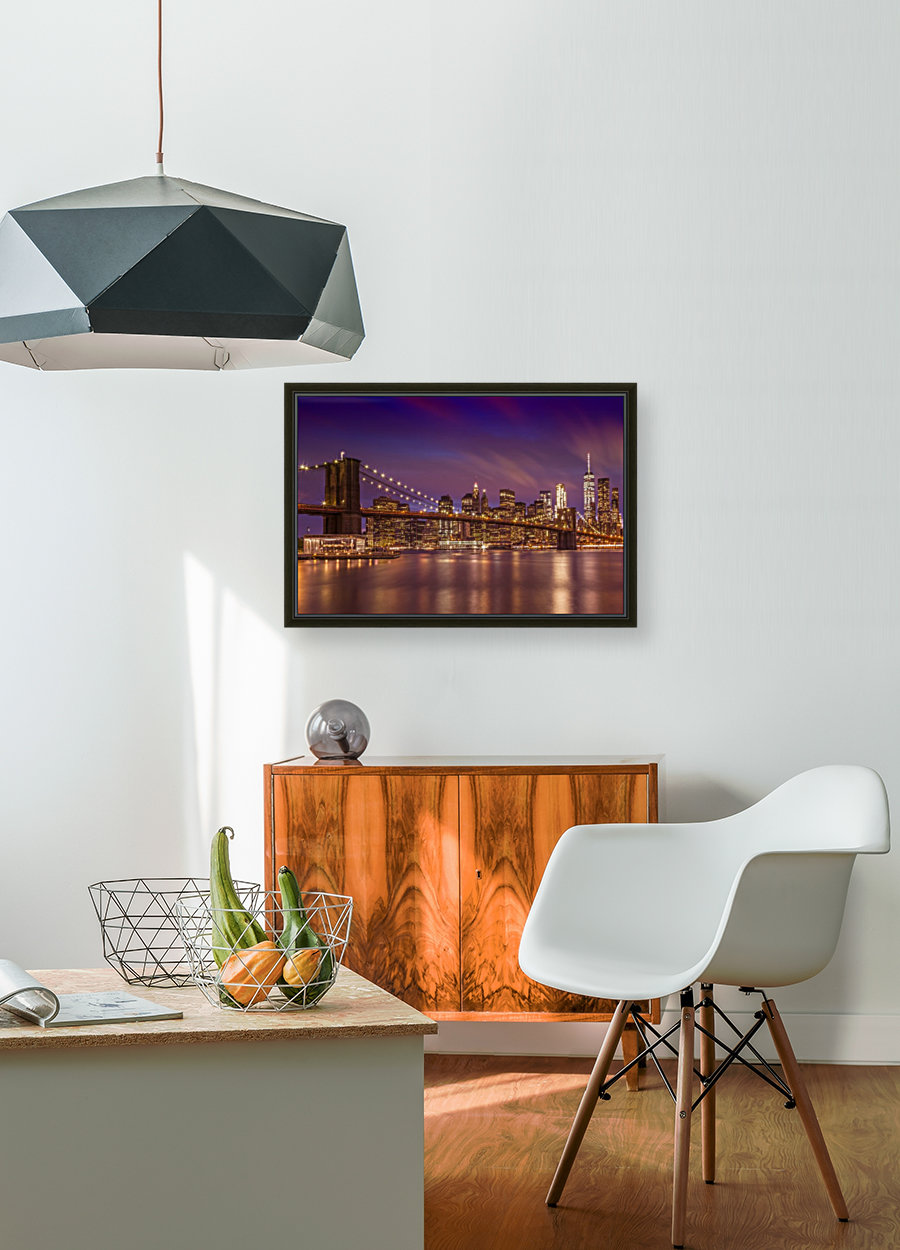 BROOKLYN BRIDGE Sunset  Print