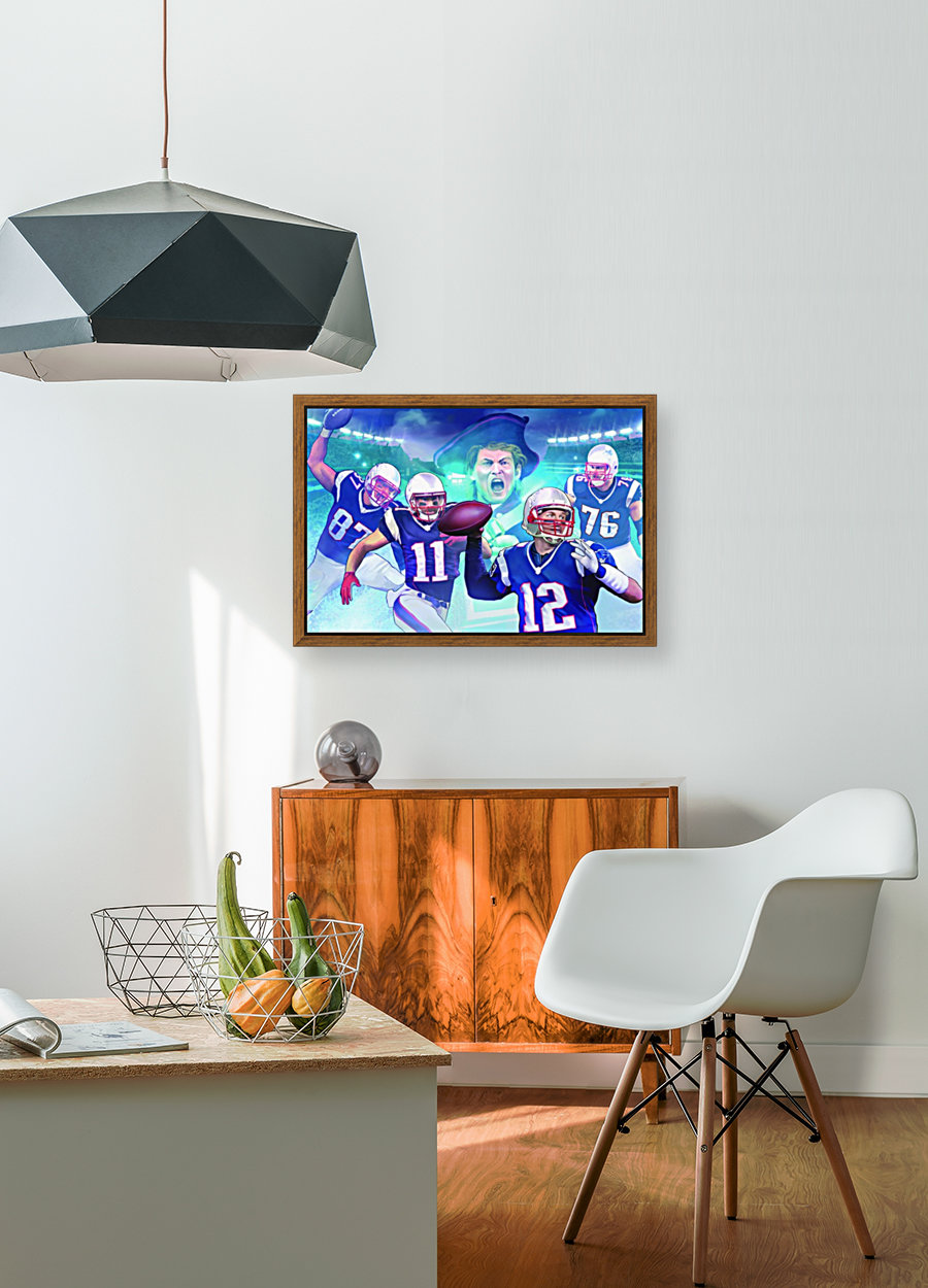 PATRIOTS Football with Floating Frame