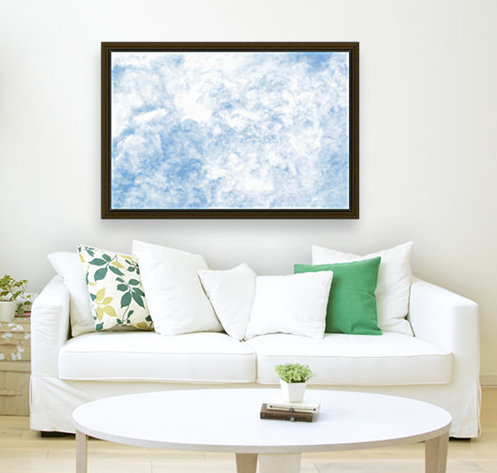 Wispy White Cloud. with Floating Frame